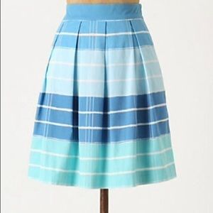 Anthropologie Stripe Bubble Skirt Pockets Vera